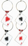 Aces - playing card charms