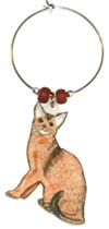 abyssinian cat wine charms