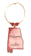 Alabama wine charm