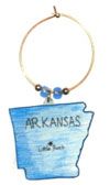Arkansas wine charm