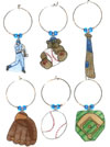 Cubs Baseball wine charms