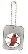 Cardinal's Baseball water bottle charms