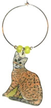 bengal cat wine charms
