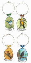 scrub jay, hooded oriole, northern flicker, american crow charms