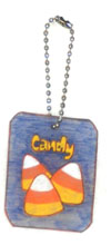candy corn bag charm