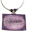Colorado wine charm