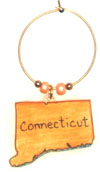 Connecticut wine charm