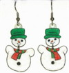 Dangly Snowmen earrings