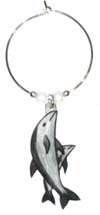 dolphin wine charms