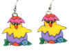 easter chick hatching earrings