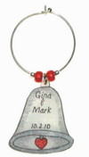 silver bell wedding favor charm