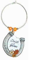 horse shoe wedding favor charm