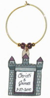 castle wedding favor charm