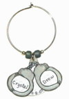 Handcuffs wedding favor charm