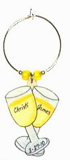 double yellow wine glasses