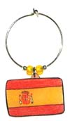 Flag of Spain wine charm