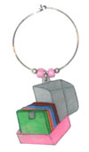 floppy disk holder wine charm