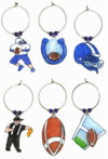 colts football wine charms