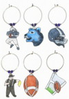 Blue Lions Football Charms