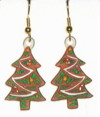 gingerbread tree earrings