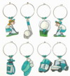 golf charms in teal