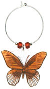 Great Mormon Butteryfly wine charm