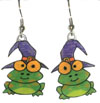 halloween frog earrings