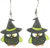halloween owl earrings