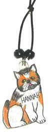 calico cat wine charm