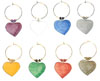 hearts multicolor wine charms