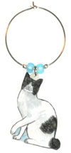 japanese bobtail Cat Wine Charms