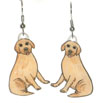 yellow lab earrings
