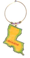 Louisiana wine charm