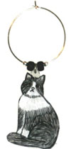 Black and White Maine Coon Cat Charms