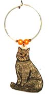 Tabby Maine Coon Cat wine Charms