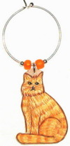Orange Tabby Maine Coon Cat Charms