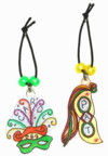 mardi gras water bottle charms