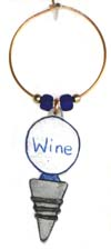 metal stopper wine charm