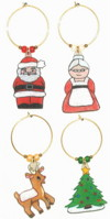 Mini santa family charms