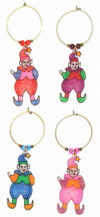 mini christmas elves charms