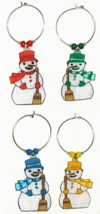 mini christmas snowman charms