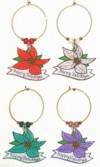 mini christmas poinsetta charms