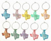 multi colored texas charms