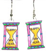 new year's earrings