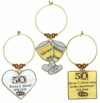 50th anniversary golden anniversary charms