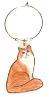 norweigen forest cat wine charm