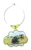 OH-6 helicopter wine charms