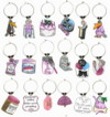 """over the hill"" birthday celebrated with wine theme charms"