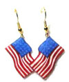 Patriotic Flag Earrings