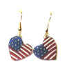 patriotic heart earrings